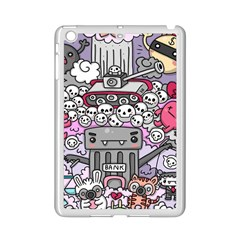 0 Sad War Kawaii Doodle iPad Mini 2 Enamel Coated Cases