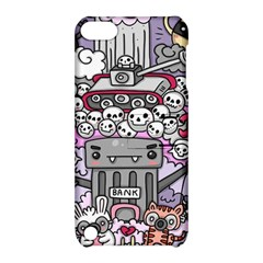 0 Sad War Kawaii Doodle Apple Ipod Touch 5 Hardshell Case With Stand