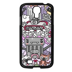 0 Sad War Kawaii Doodle Samsung Galaxy S4 I9500/ I9505 Case (black)