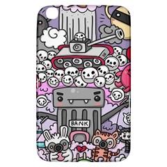 0 Sad War Kawaii Doodle Samsung Galaxy Tab 3 (8 ) T3100 Hardshell Case