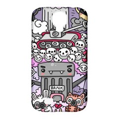 0 Sad War Kawaii Doodle Samsung Galaxy S4 Classic Hardshell Case (pc+silicone)