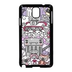 0 Sad War Kawaii Doodle Samsung Galaxy Note 3 Neo Hardshell Case (black)