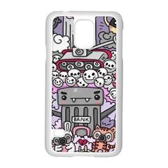 0 Sad War Kawaii Doodle Samsung Galaxy S5 Case (White)