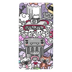 0 Sad War Kawaii Doodle Galaxy Note 4 Back Case