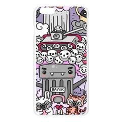0 Sad War Kawaii Doodle Apple Seamless iPhone 6 Plus/6S Plus Case (Transparent)