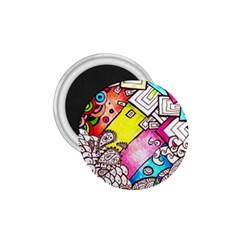 Beautiful Colorful Doodle 1.75  Magnets
