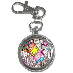 Beautiful Colorful Doodle Key Chain Watches