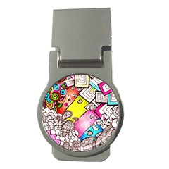 Beautiful Colorful Doodle Money Clips (Round)