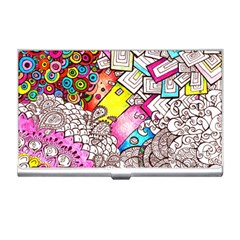 Beautiful Colorful Doodle Business Card Holders