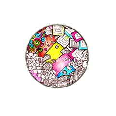 Beautiful Colorful Doodle Hat Clip Ball Marker