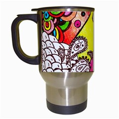 Beautiful Colorful Doodle Travel Mugs (white)