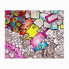 Beautiful Colorful Doodle Small Glasses Cloth