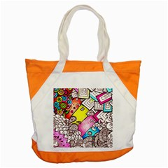 Beautiful Colorful Doodle Accent Tote Bag