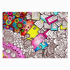 Beautiful Colorful Doodle Large Glasses Cloth (2-Side)