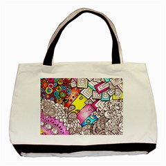 Beautiful Colorful Doodle Basic Tote Bag (Two Sides)