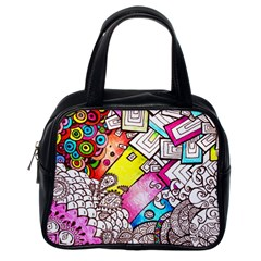 Beautiful Colorful Doodle Classic Handbags (One Side)