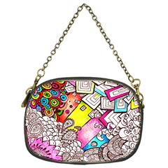 Beautiful Colorful Doodle Chain Purses (one Side)