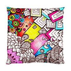 Beautiful Colorful Doodle Standard Cushion Case (two Sides)