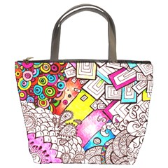 Beautiful Colorful Doodle Bucket Bags