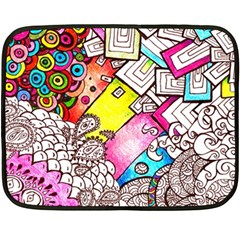 Beautiful Colorful Doodle Fleece Blanket (mini)