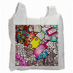 Beautiful Colorful Doodle Recycle Bag (One Side)