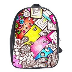 Beautiful Colorful Doodle School Bags(large)