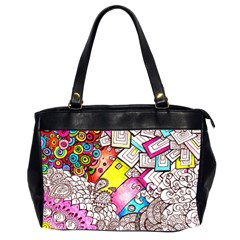 Beautiful Colorful Doodle Office Handbags (2 Sides)