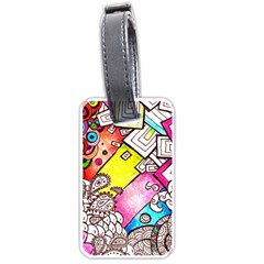 Beautiful Colorful Doodle Luggage Tags (One Side)