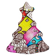 Beautiful Colorful Doodle Ornament (christmas Tree)