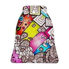 Beautiful Colorful Doodle Bell Ornament (Two Sides)