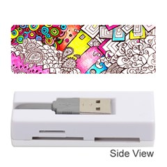 Beautiful Colorful Doodle Memory Card Reader (stick)