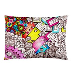 Beautiful Colorful Doodle Pillow Case (Two Sides)