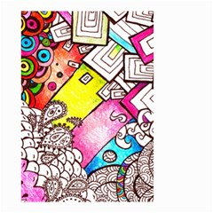 Beautiful Colorful Doodle Small Garden Flag (two Sides)