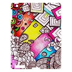 Beautiful Colorful Doodle Apple Ipad 3/4 Hardshell Case