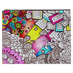 Beautiful Colorful Doodle Cosmetic Bag (xxxl)