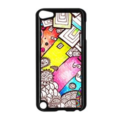 Beautiful Colorful Doodle Apple Ipod Touch 5 Case (black)