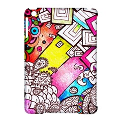 Beautiful Colorful Doodle Apple Ipad Mini Hardshell Case (compatible With Smart Cover)