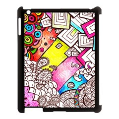 Beautiful Colorful Doodle Apple Ipad 3/4 Case (black)