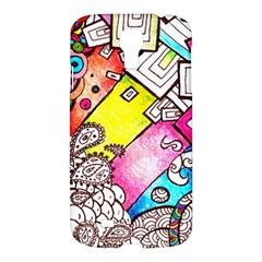 Beautiful Colorful Doodle Samsung Galaxy S4 I9500/i9505 Hardshell Case