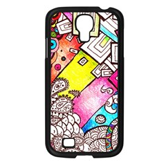 Beautiful Colorful Doodle Samsung Galaxy S4 I9500/ I9505 Case (black)