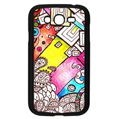 Beautiful Colorful Doodle Samsung Galaxy Grand Duos I9082 Case (black)