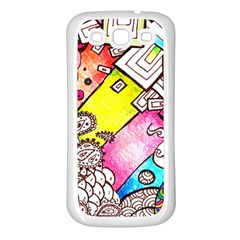 Beautiful Colorful Doodle Samsung Galaxy S3 Back Case (white)