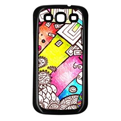 Beautiful Colorful Doodle Samsung Galaxy S3 Back Case (black)