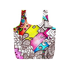 Beautiful Colorful Doodle Full Print Recycle Bags (S)