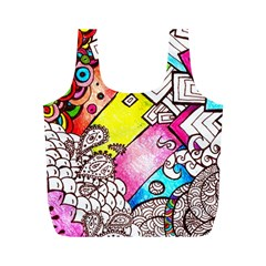 Beautiful Colorful Doodle Full Print Recycle Bags (m)