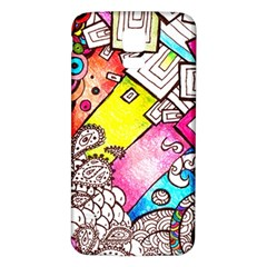 Beautiful Colorful Doodle Samsung Galaxy S5 Back Case (white)