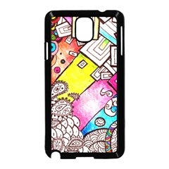 Beautiful Colorful Doodle Samsung Galaxy Note 3 Neo Hardshell Case (Black)