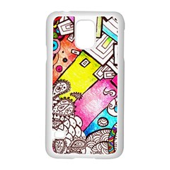Beautiful Colorful Doodle Samsung Galaxy S5 Case (white)