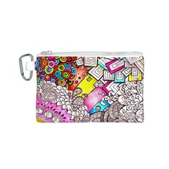 Beautiful Colorful Doodle Canvas Cosmetic Bag (s)