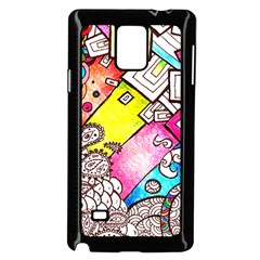 Beautiful Colorful Doodle Samsung Galaxy Note 4 Case (black)